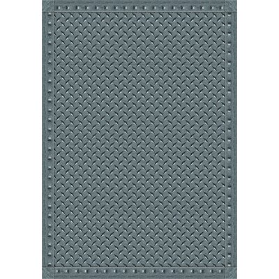 Gray Area Rug Rug Size: 109 x 132