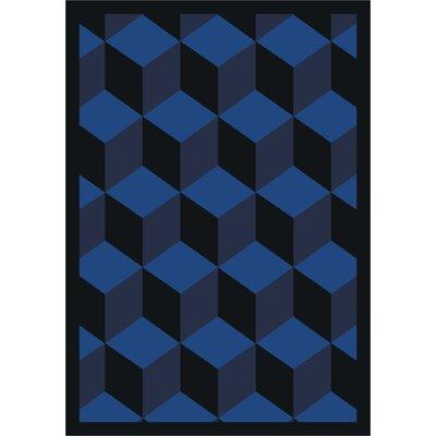 Blue Area Rug Rug Size: 3'10