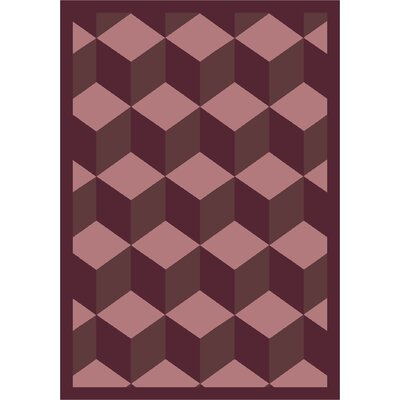 Purple Area Rug Rug Size: 3'10