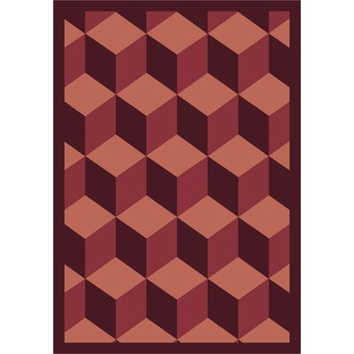 Red Area Rug Rug Size: 5'4