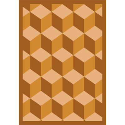 Gold Area Rug Rug Size: 78 x 109