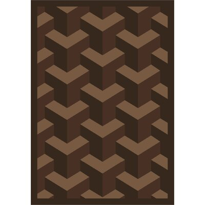 Browm Area Rug Rug Size: 78 x 109
