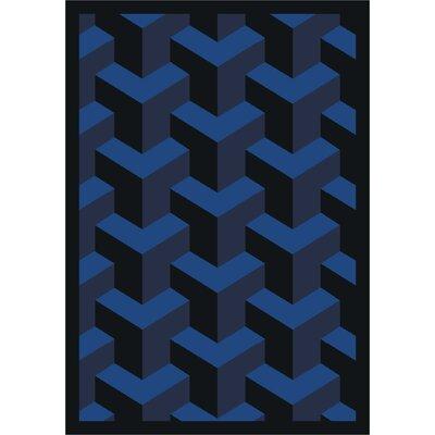 Blue Area Rug Rug Size: 10'9