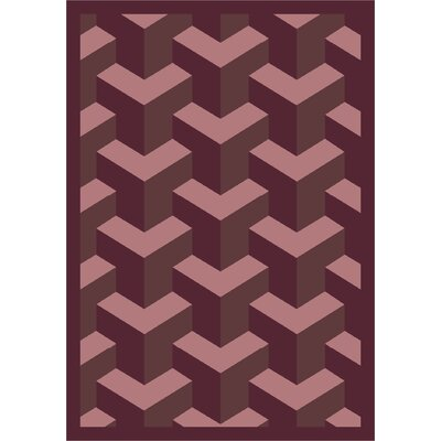 Purple Area Rug Rug Size: 109 x 132