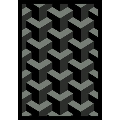 Black Area Rug Rug Size: 109 x 132