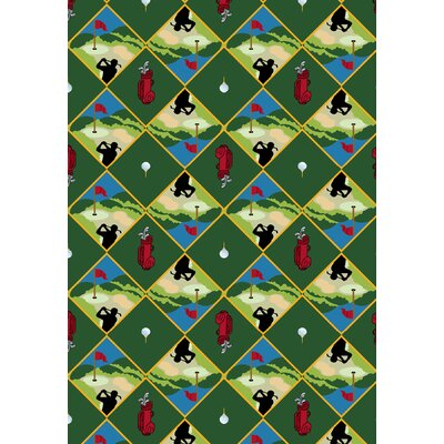 Green Area Rug Rug Size: 78 x 109