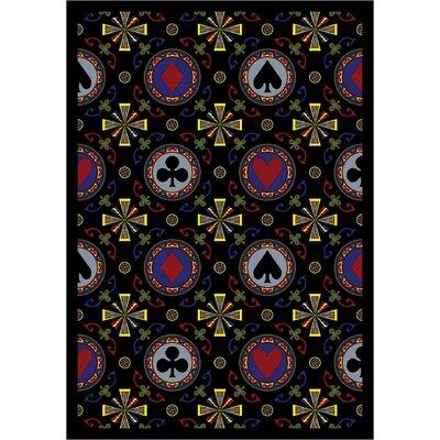 Black Area Rug Rug Size: 78 x 109