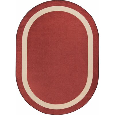Wine Purple Area Rug Rug Size: Oval 78 x 109