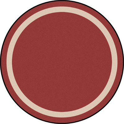 Wine Purple Area Rug Rug Size: Round 77