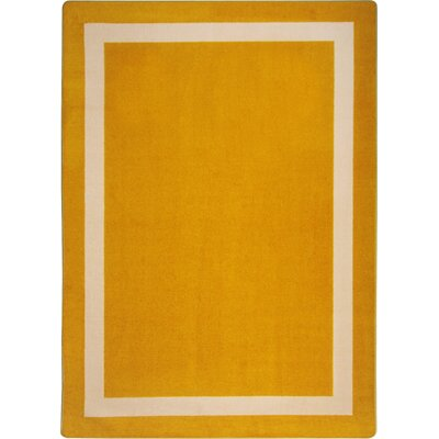 Orange Area Rug Rug Size: 54 x 78