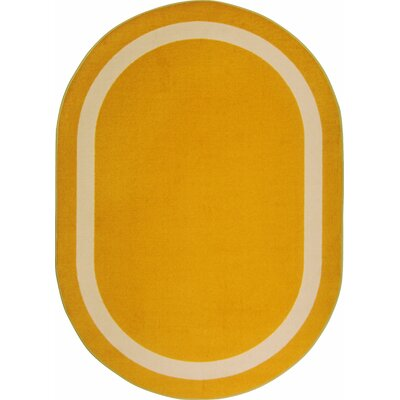 Orange Area Rug Rug Size: Oval 78 x 109
