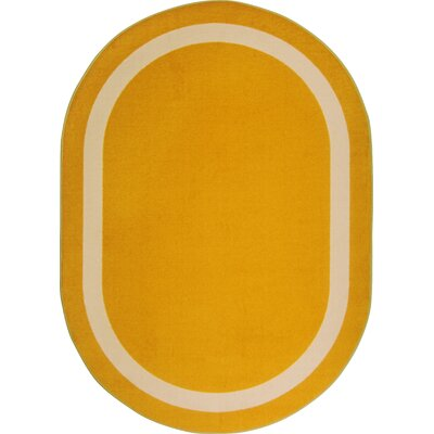 Orange Area Rug Rug Size: Oval 54 x 78