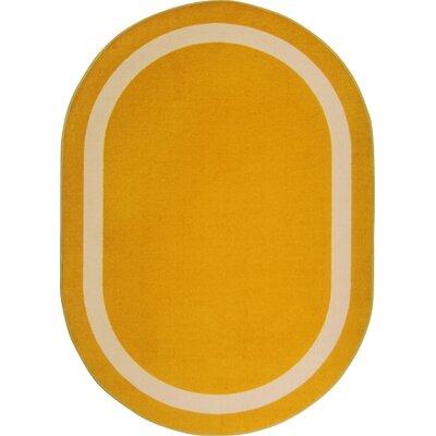 Orange Area Rug Rug Size: Oval 54 x 78