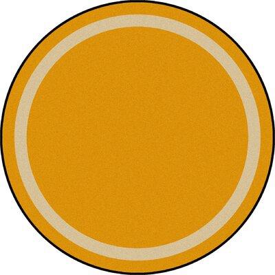 Orange Area Rug Rug Size: Round 77