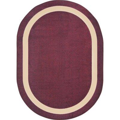 Purple Area Rug Rug Size: Oval 109 x 132