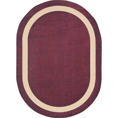 Purple Area Rug Rug Size: Oval 78 x 109