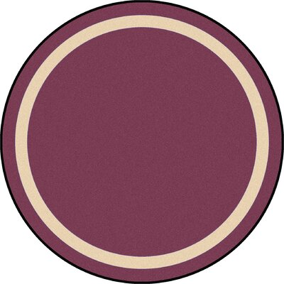 Purple Area Rug Rug Size: Round 77