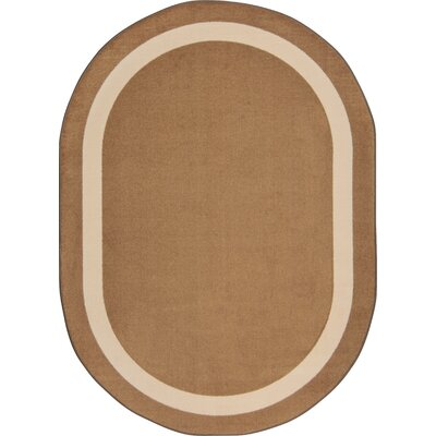 Brown Area Rug Rug Size: Oval 78 x 109