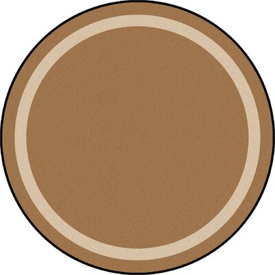Brown Area Rug Rug Size: Round 77