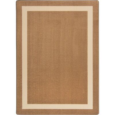 Brown Area Rug Rug Size: 78 x 109
