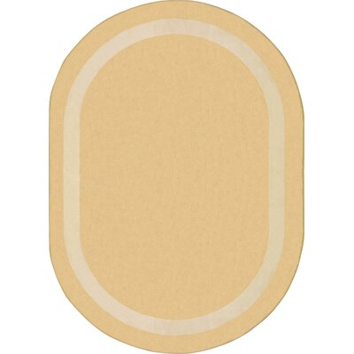 Sandstone Area Rug Rug Size: Oval 78 x 109