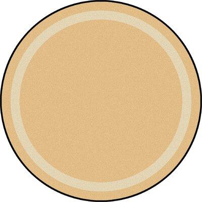 Sandstone Area Rug Rug Size: Round 77