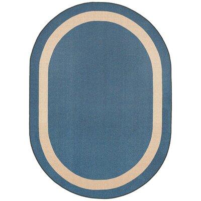 Blue Area Rug Rug Size: Oval 109 x 132