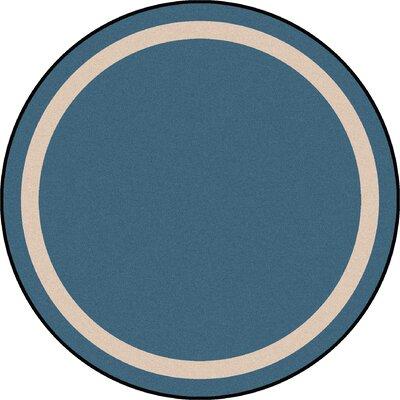 Blue Area Rug Rug Size: Round 7'7