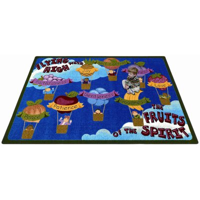 Blue/Brown Area Rug Rug Size: 54 x 78