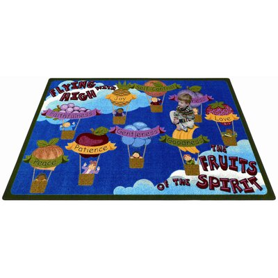 Blue/Brown Area Rug Rug Size: 78 x 109