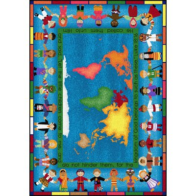 Blue/Yellow Area Rug Rug Size: Rectangle 78 x 109
