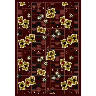 Burgundy Red Area Rug Rug Size: 109 x 132
