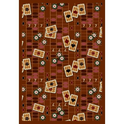 Rust Feeling Lucky Area Rug Rug Size: 310 x 54