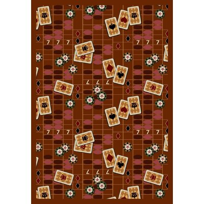 Rust Feeling Lucky Area Rug Rug Size: 54 x 78