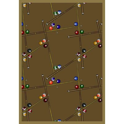 Snookered Dark Rust Area Rug Rug Size: 54 x 78