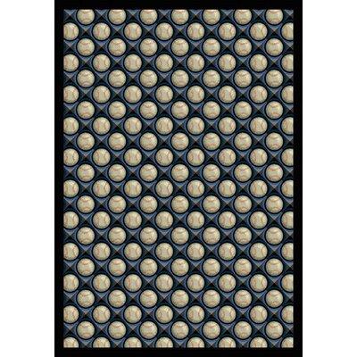 Blue/Beige Area Rug Rug Size: 109 x 132