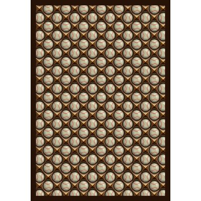 Brown/Beige Area Rug Rug Size: 109 x 132
