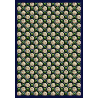 Green/Beige Area Rug Rug Size: 78 x 109