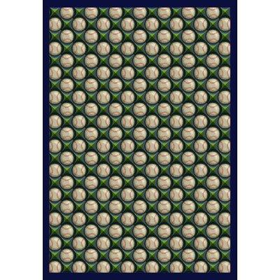 Green/Beige Area Rug Rug Size: 78 x 109