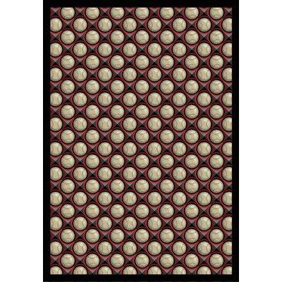 Red/Beige Area Rug Rug Size: 54 x 78