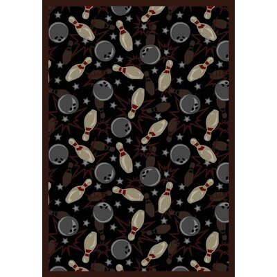 Black/Gray Area Rug Rug Size: 109 x 132