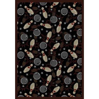 Black/Gray Area Rug Rug Size: 54 x 78