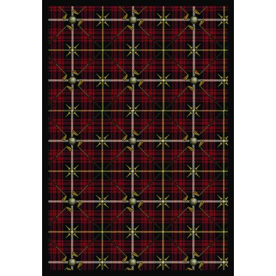 Red Area Rug Rug Size: Rectangle 78 x 109