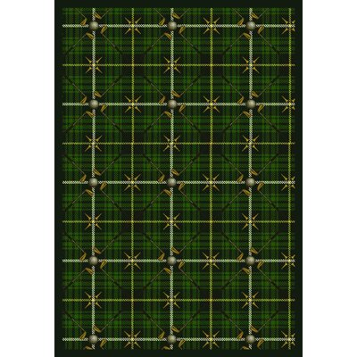 Green Area Rug Rug Size: 109 x 132