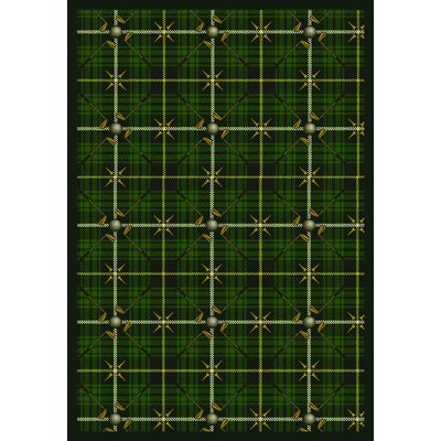 Green Area Rug Rug Size: Rectangle 54 x 78