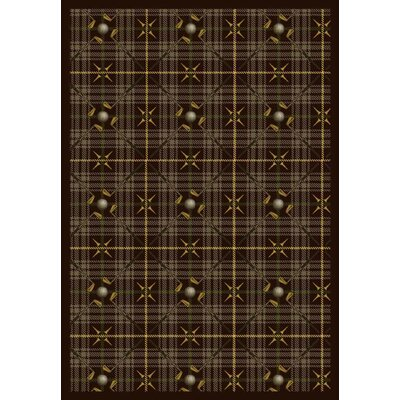 Brown Area Rug Rug Size: Rectangle 78 x 109