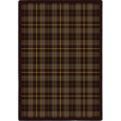Bark Brown Area Rug Rug Size: 78 x 109