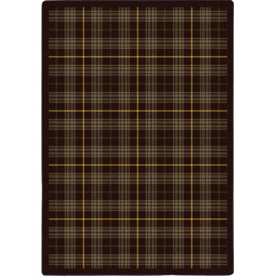 Bark Brown Area Rug Rug Size: 109 x 132