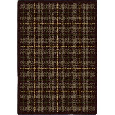 Bark Brown Area Rug Rug Size: 54 x 78