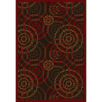 Brown/Red Area Rug Rug Size: 54 x 78